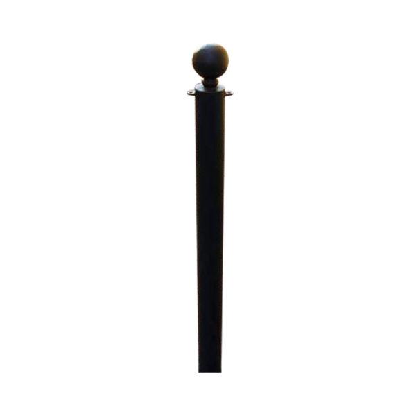 palo in tubo verniciato con sfera